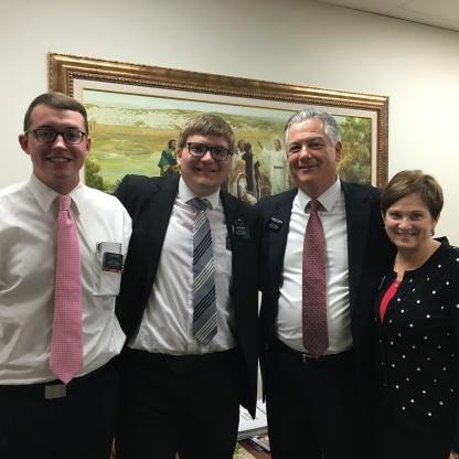 Elder Pierce, Elder Meyer, US