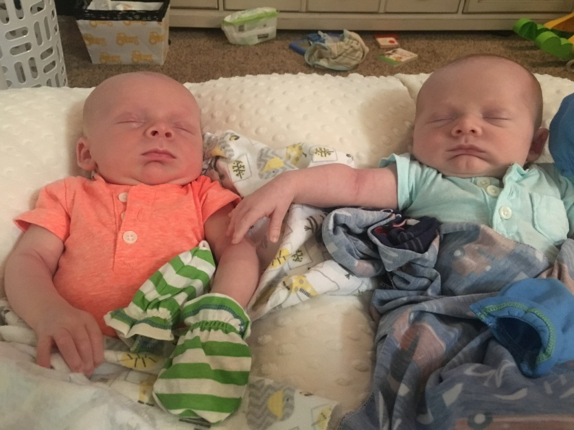 Cruz and Nash- love to touch when sleeping:)