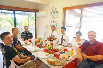 President Larkin, Elder Siliili. Sunagawa,Us, Butterfield,
