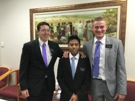 Elder Afable with companions, Elder Frankhauser, Elder Foster