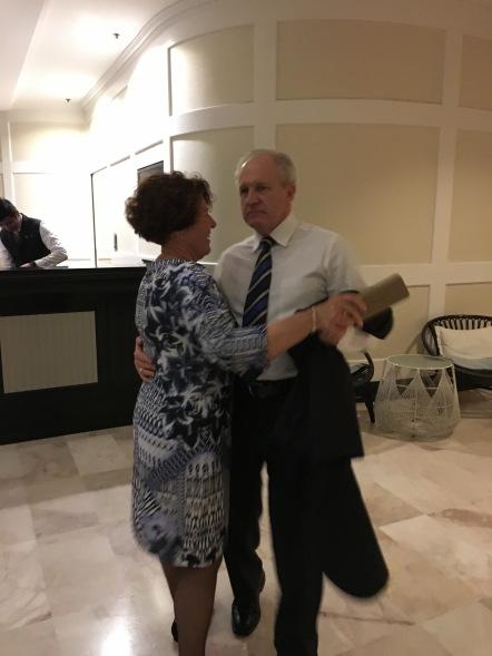 Hamilton's dancing in Hotel Lobby~ Adorable!