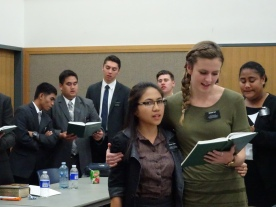 Elder Tiaihau/Campbell, Sister Day/Enero, Sister Salu/Custan Elder Johnson/Harvey