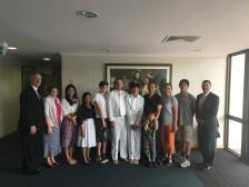 Baptism of Jonathan Lin ~ Sisters Nardo & Sawatdeenaruemol ~ Jan. 15, 2017