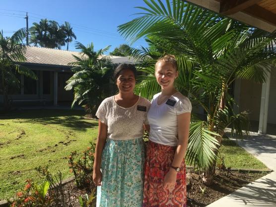 Sister Fakatava with Sister Doig