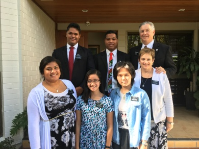 Goldens ~ Elder Buchin,Faatoatoa, President, & Sisters Kolia, Torres, Liu, Sister McSwain
