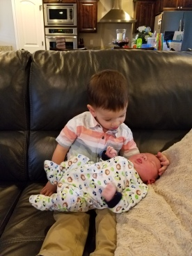 Big brother Trey w/ Baby Kacen