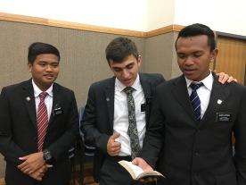 Elder Caindoy, Elder Nuttall, & Laspanas