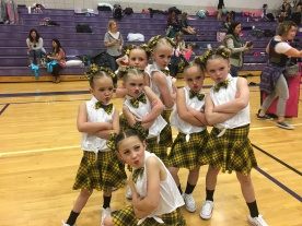 Brynley with Dance Team~ she's the cute one!! JK - they are all cute!