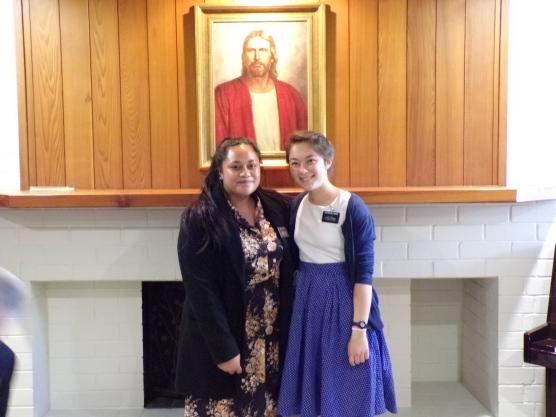 Sister Tuala w/trainer Sister Milward