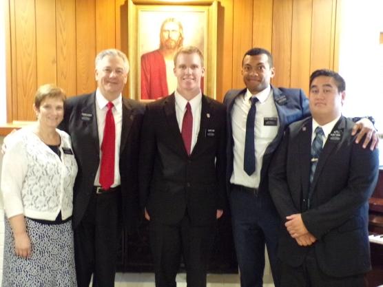 Elder Olsen W/trainers Elder Tikomatuku & Tiaihau