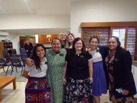 Sisters Robles, Anitema, Durocher, Broome, Millward, & Tuala
