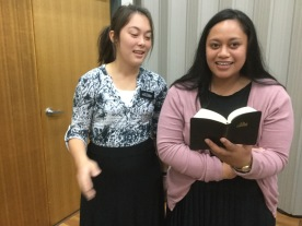 Sister Millward and Tuala