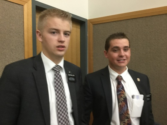 Elder Bullock and Richins