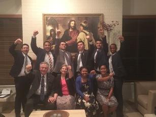 Elders Fankhouser, Matu, Dunlop, Wihongi, Hartvig-Hansen, Mthebela, Sisters Fakatava & James