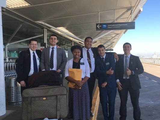 Departing 5 Elders to NZ and Sister James to Vanauatu