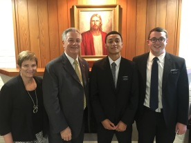 Sister & Pres. McSwain, Elder Haiane and Pierce