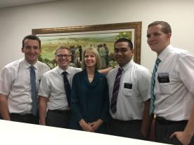 Elders Morris, Banks, Fukofuka, and Jackson w/ Sister Dever