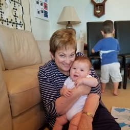 Grandma's so Happy to meet this little guy.