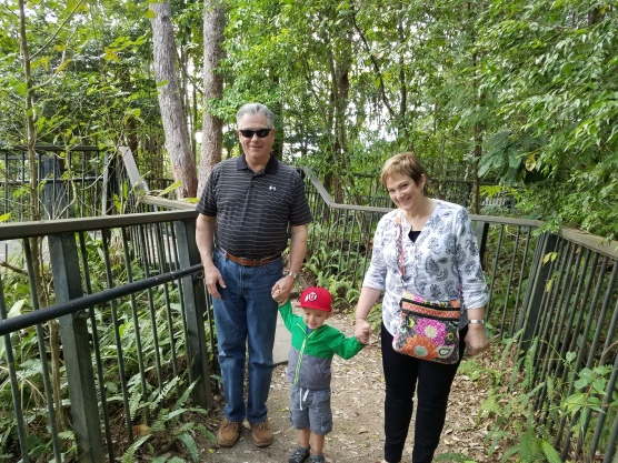 Walk with Trey to see Falls