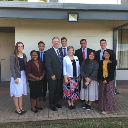 Sisters Bowen, Hoeisi, Rongthong, Balagtas, Elders Evangelista,Hensen, Etilage, & Winters