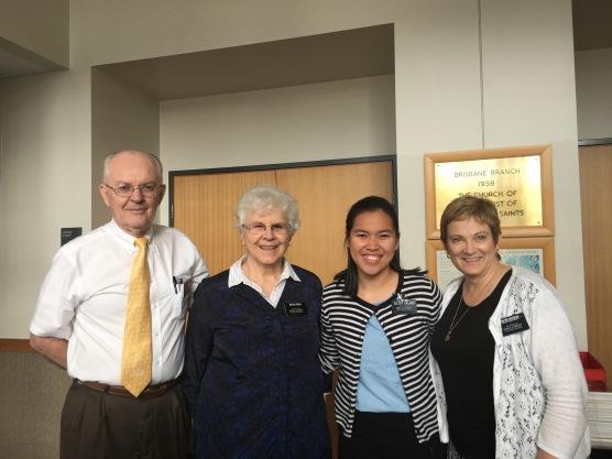 Elder & Sister Bean w/ Sisters Galang & McSwain
