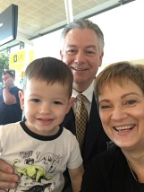 Trey with Papa & Gma