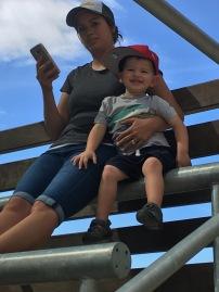 Big Trey with Mom