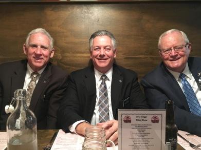 Elder Callahan, President and Elder Clyde Farewell Dinner