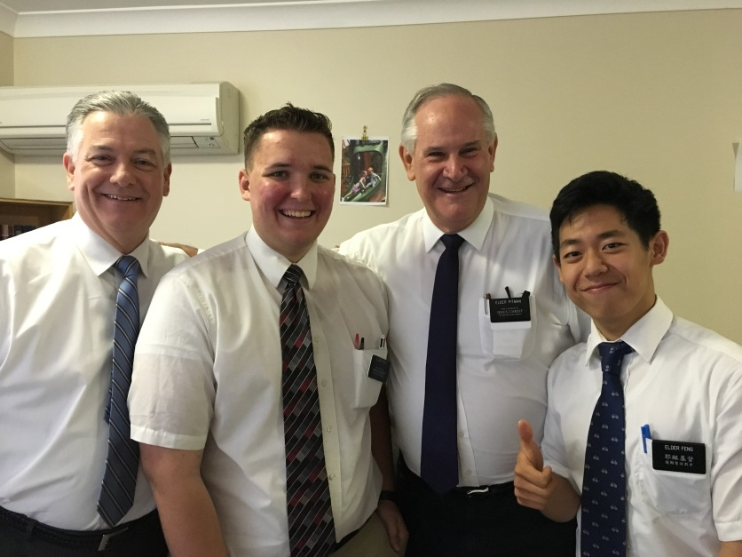 President, Elders Rossi, Pitman, and Feng