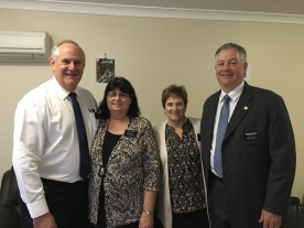 Elder and Sister Pitman with Sister and President McSwain