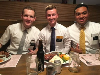 ELDER JACKSON'S Departing dinner with Elders Smoot and Fukofuka and McSwain's