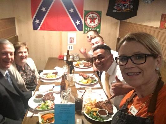 DINNER YUM! Best waiter:)