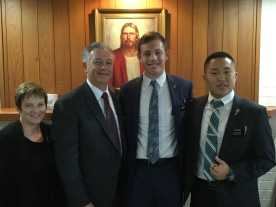 Elder Bast with Trainer Elder Wang
