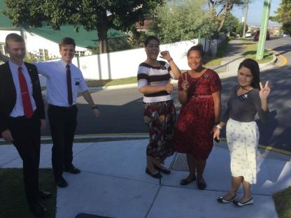 Elders Nordfelt & Clawson, Sisters Aloua,Tamanivalu, and Costa