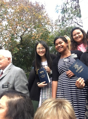Elder Watts, Sisters Chu, Tamanivalu, and Teihoarii