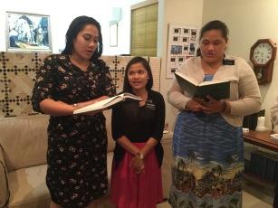 Sisters Halasima, Nardo, and Alovoa