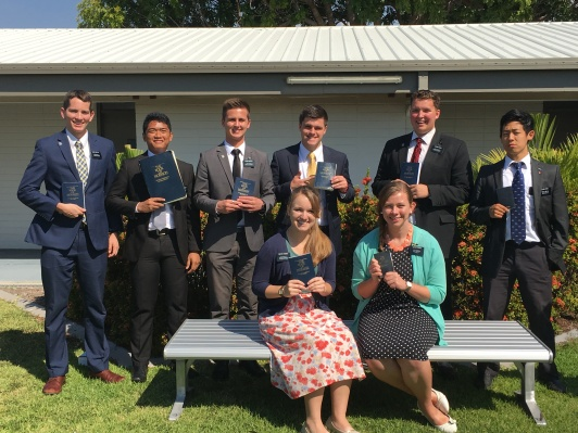 Townsville and Mt Isa Missionaries, Elders Nuttall, Gumisong,Martin, Tenny, Rossi, and Feng, Sisters Rhodes & Sykes