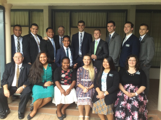 Rock Hampton Missionaries: Elders ~ Fukofuka, Contreas, Tuatama, President, Aspacio, Crane, Smoot, Parry, Morris,and Cummings. Elder Tarr, Sisters: Ezekiala, Hoiesi, Stephens RongThong, Broome