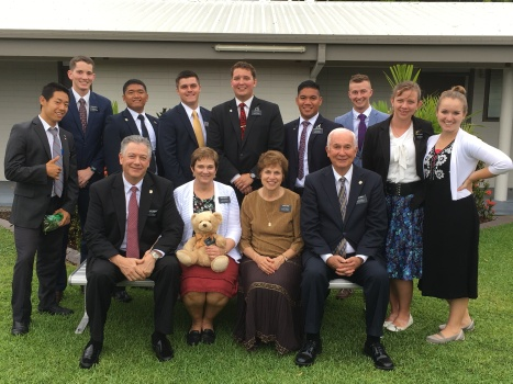 Elders: Feng, Nuttall, Gumisong,Tenny, Rossi,Daligay, Smoot, Sisters: Sykes, Rhodes, with McSwains and Redds