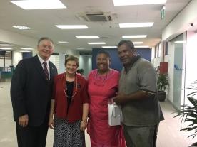 Met by Sister Kaumaitotoya's parents.