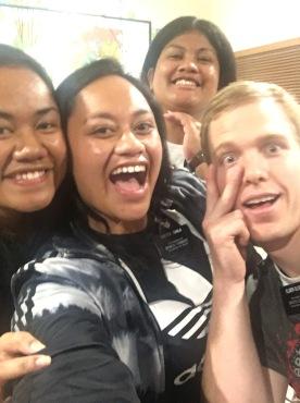 Sister Ioune, Tuala, Kolia, and Elder Olsen