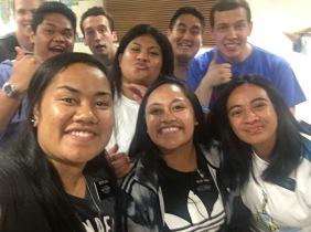Sisters Iuone, Tuala, Roberts, Kolia, Elders Buchin, Morris, Tiahau, Brimley