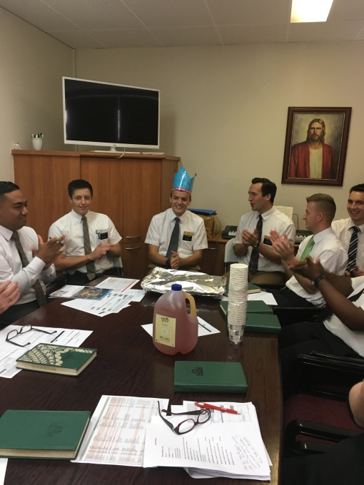Elder Cummings Birthday in the Office