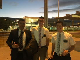 Next morning before sunrise ~ Elder Tahere is on way home.