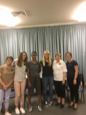 Sister Maxfield, Day, Sasa, Shakin, McSwain, Millward