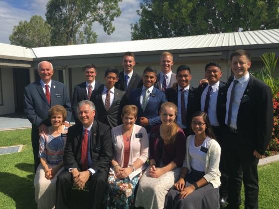 Townsville Missionaries ~ Elders: Redd, Tenny, Feng, Hymas, Faatua, Olsen, Daligay, Gumisong, Pugsley & President, Sisters: Redd, McSwain, Rhodes, & Torres