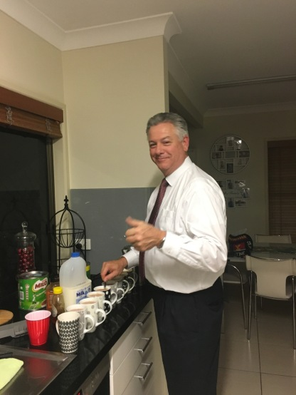 PRESIDENT: fixing the midnight snack!